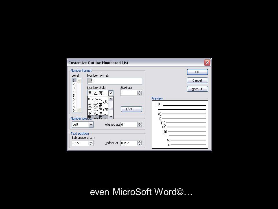 even MicroSoft Word©…