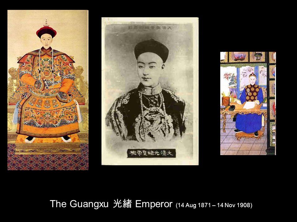 The Guangxu Emperor (14 Aug 1871 – 14 Nov 1908)
