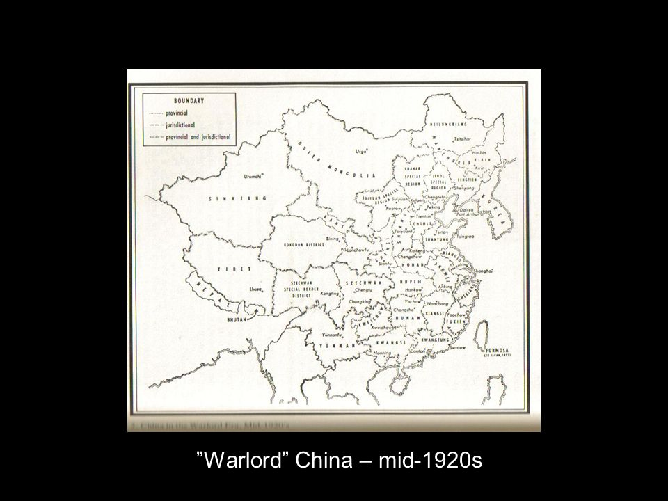 Warlord China – mid-1920s