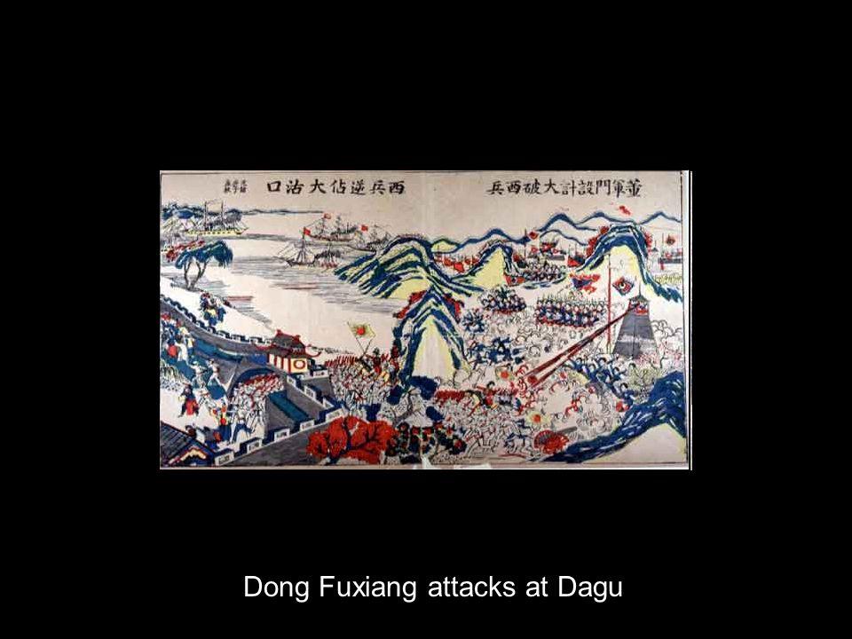 Dong Fuxiang attacks at Dagu