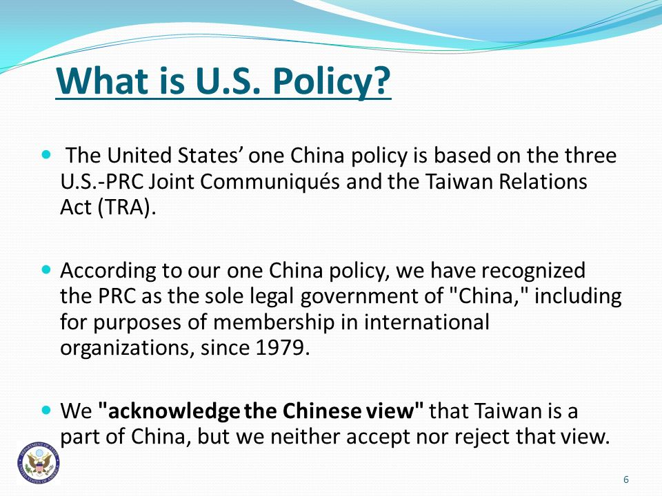 What is U.S. Policy.