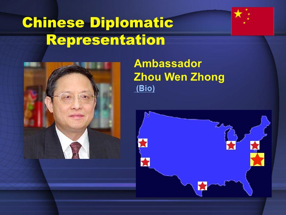 Chinese Diplomatic Representation Ambassador Zhou Wen Zhong (Bio) (Bio)