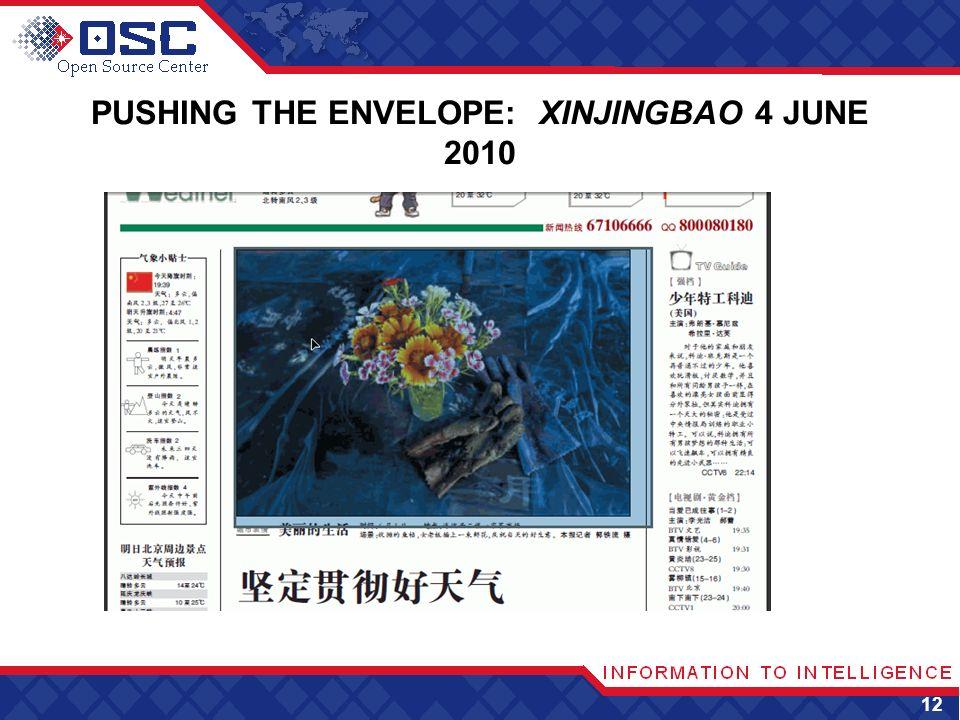 PUSHING THE ENVELOPE: XINJINGBAO 4 JUNE 2010 12
