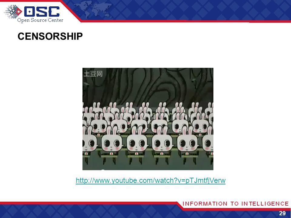 CENSORSHIP 29 http://www.youtube.com/watch?v=pTJmtfjVerw