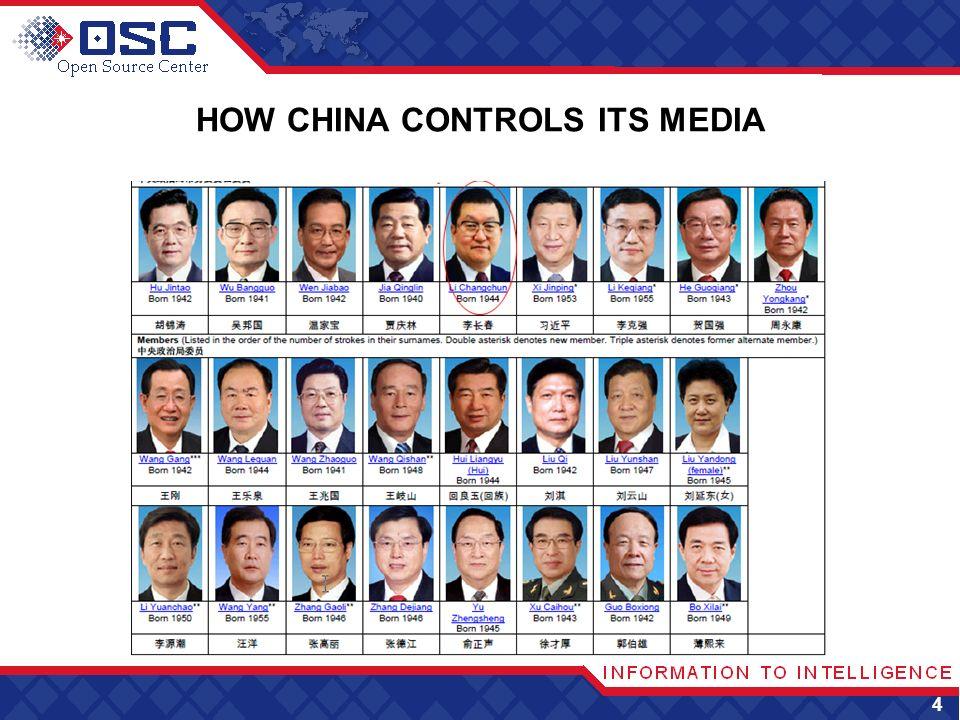 HOW CHINA CONTROLS ITS MEDIA 4