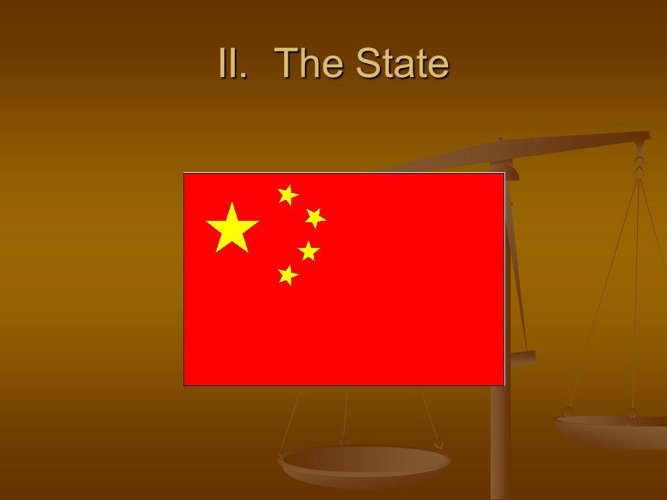 II. The State