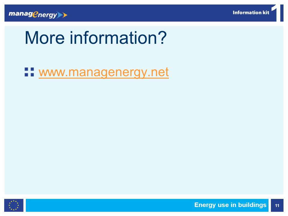 11 1 Energy use in buildings More information