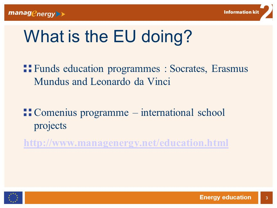3 2 Energy education What is the EU doing.