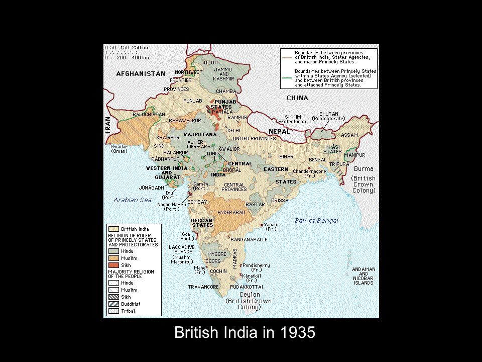 British India in 1935