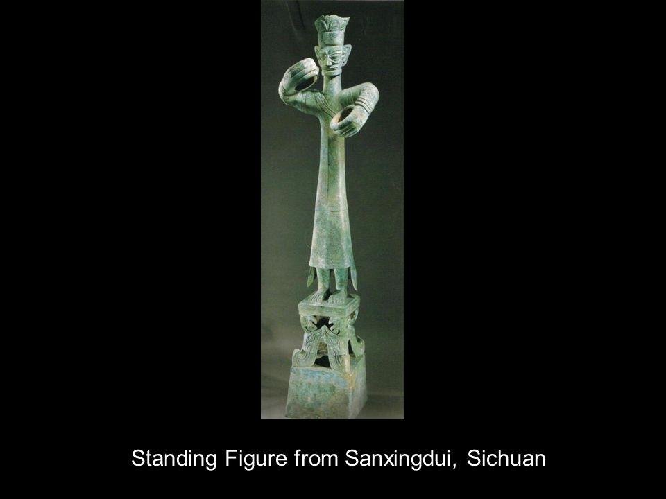 Standing Figure from Sanxingdui, Sichuan