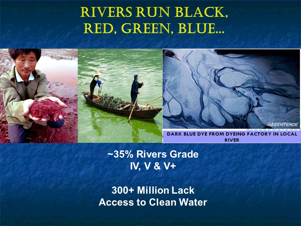 Rivers Run Black, Red, Green, Blue...