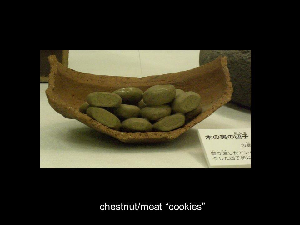 chestnut/meat cookies