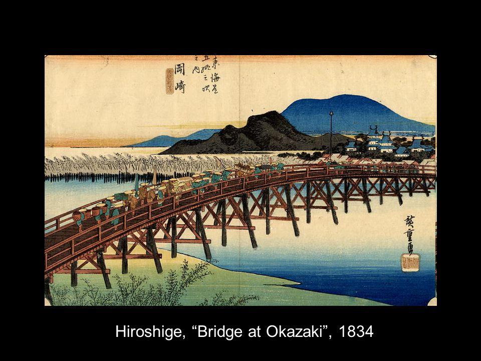 Hiroshige, Bridge at Okazaki, 1834