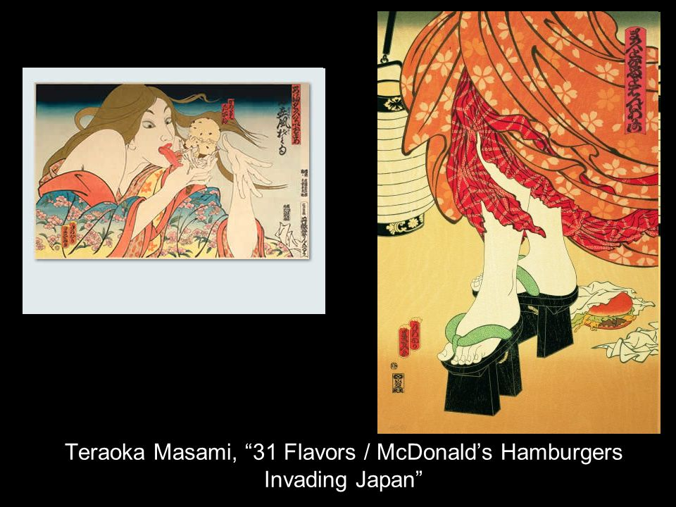 Teraoka Masami, 31 Flavors / McDonalds Hamburgers Invading Japan