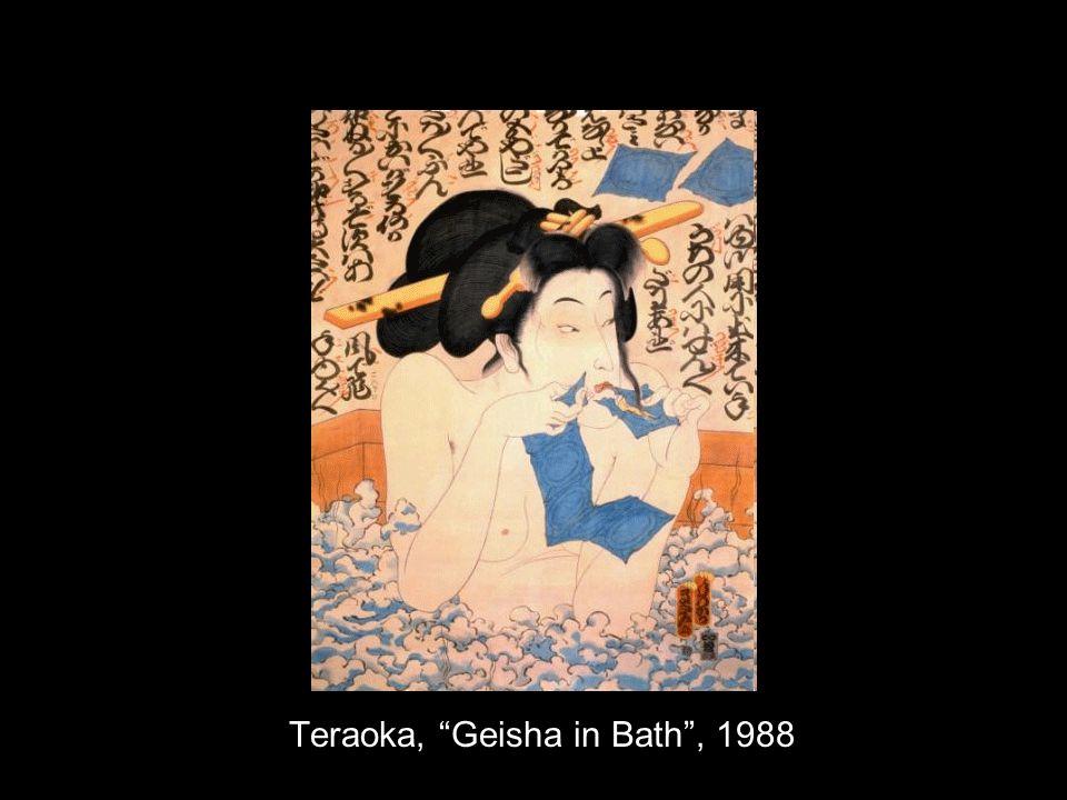 Teraoka, Geisha in Bath, 1988