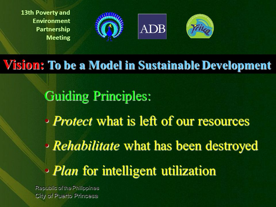 13th Poverty and Environment Partnership Meeting In 1992, Edward S.
