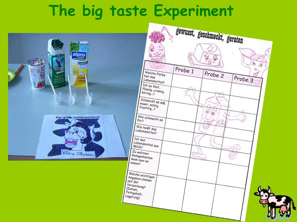 The big taste Experiment