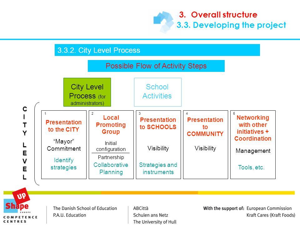 Possible Flow of Activity Steps City Level Process (for administrators) School Activities CITYCITYLEVELLEVELCITYCITYLEVELLEVEL Presentation to the CIT