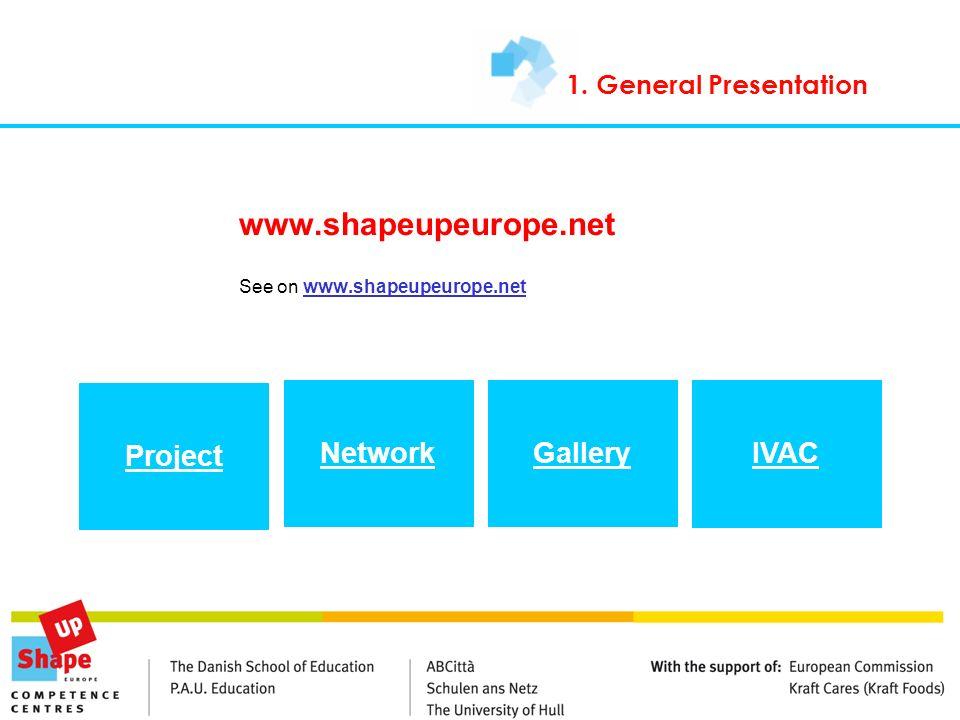 www.shapeupeurope.net See on www.shapeupeurope.netwww.shapeupeurope.net 1. General Presentation Project NetworkGallery IVAC