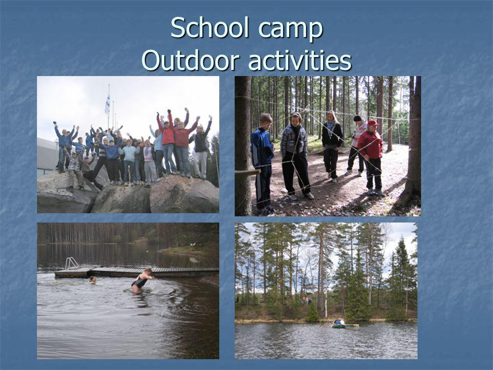 School camp Outdoor activities