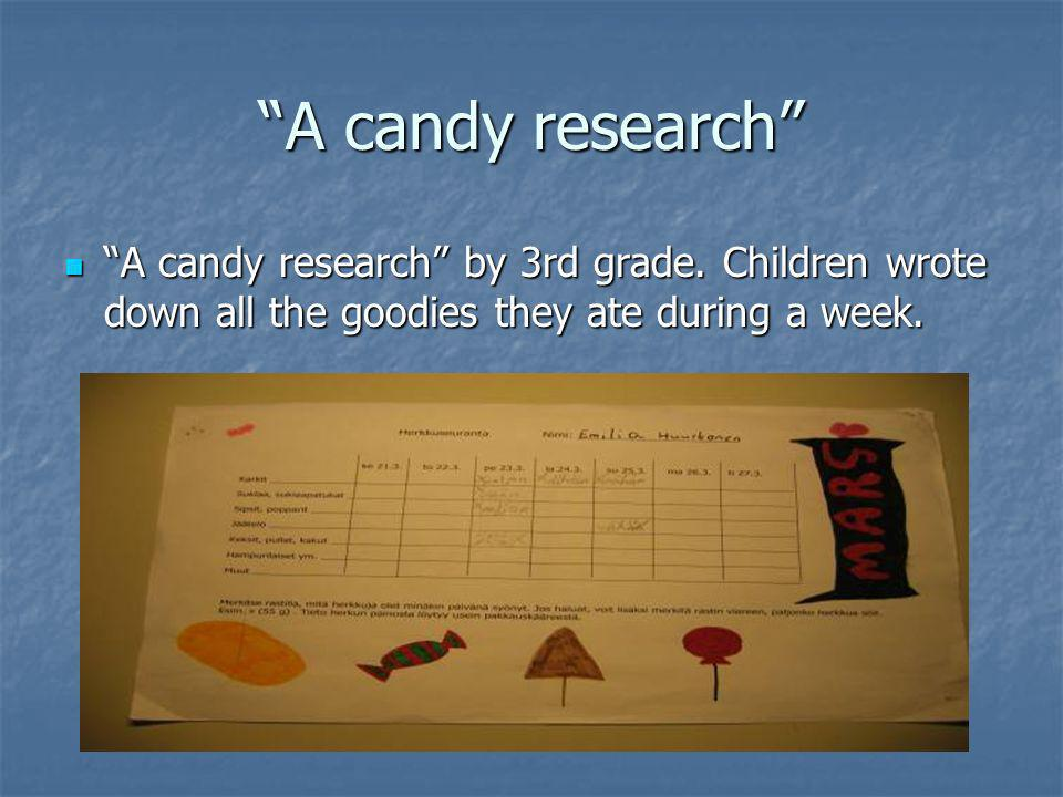 A candy research A candy research by 3rd grade.