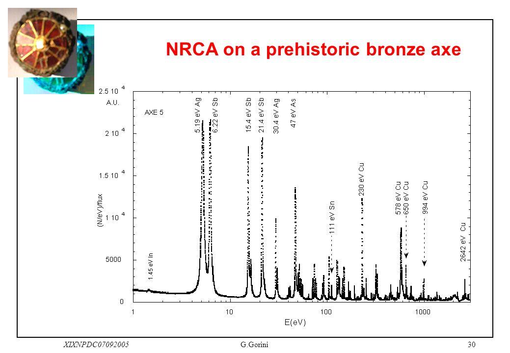 30XIXNPDC07092005G.Gorini NRCA on a prehistoric bronze axe