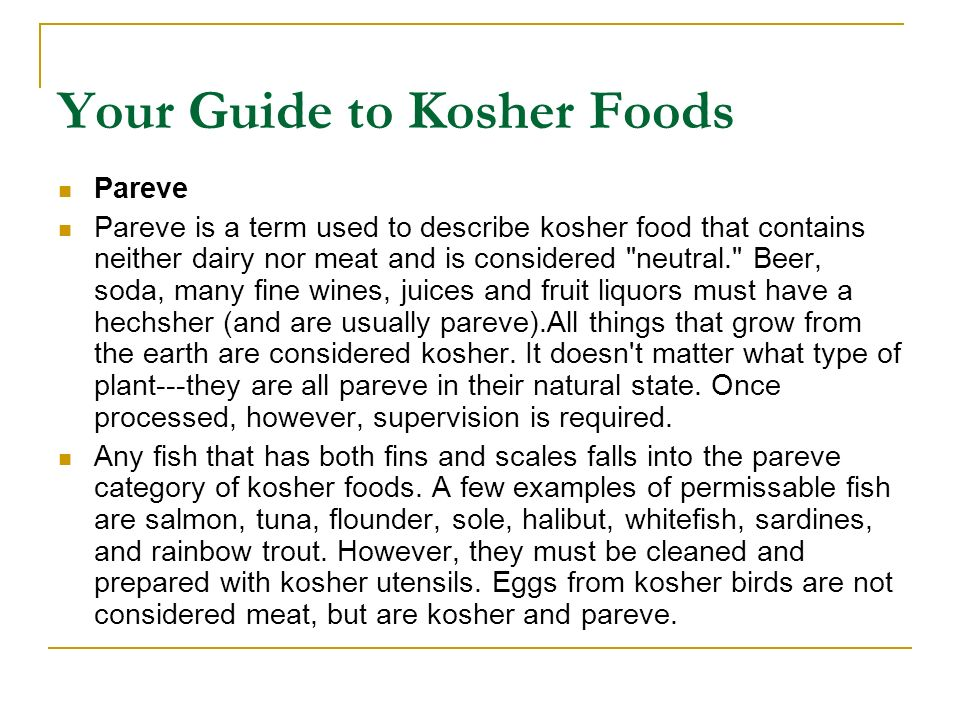Kosher for Passover During Passover, Jews refrain from eating chometz: anything that contains barley, wheat, rye, oats, and spelt, and is not cooked within 18 minutes after coming in contact with water.