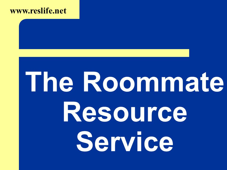 The Roommate Resource Service