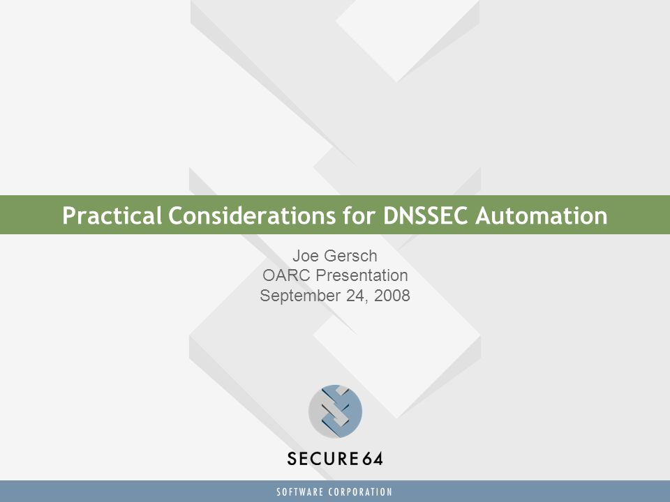 The Design Goal: Secure DNSSEC Automation on a Trusted Computing Platform a turnkey DNSSEC Signer appliance Plug-n-Play DNSSEC-in-a-box Just set it and forget it.