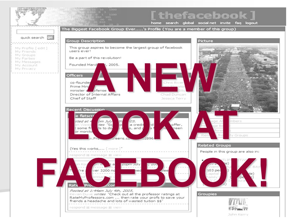 A NEW LOOK AT FACEBOOK!