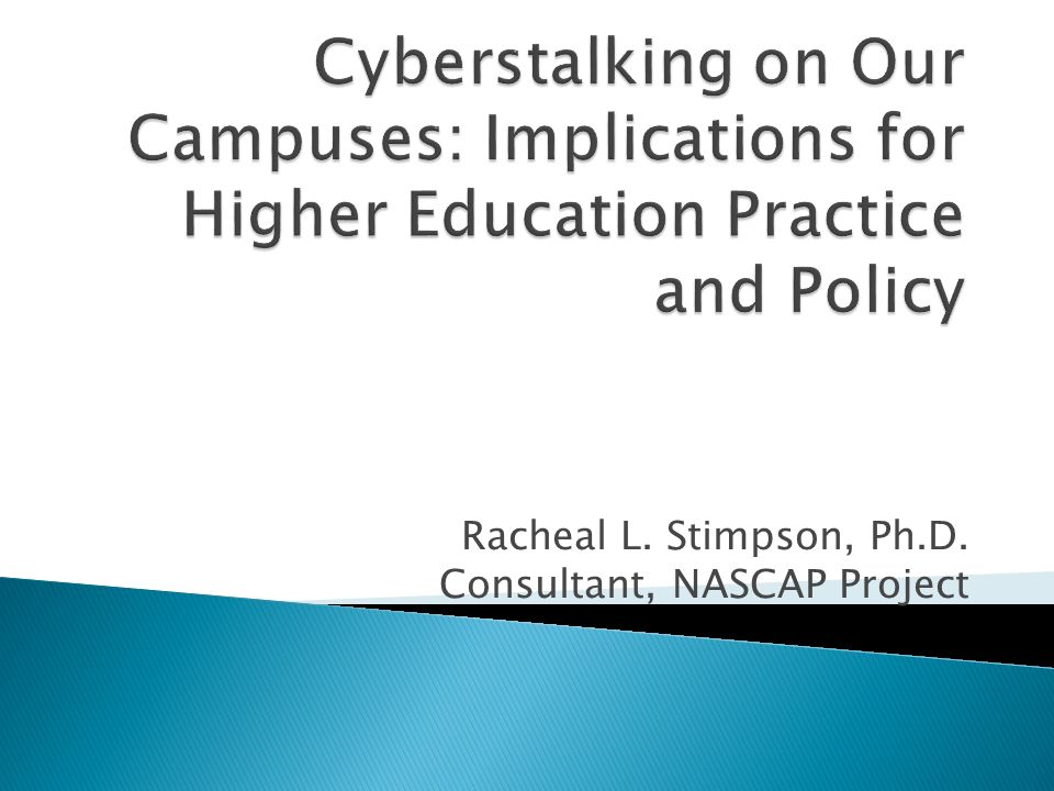 Cyberstalking is a relatively new phenomenon due to the increased mainstream use of technology.