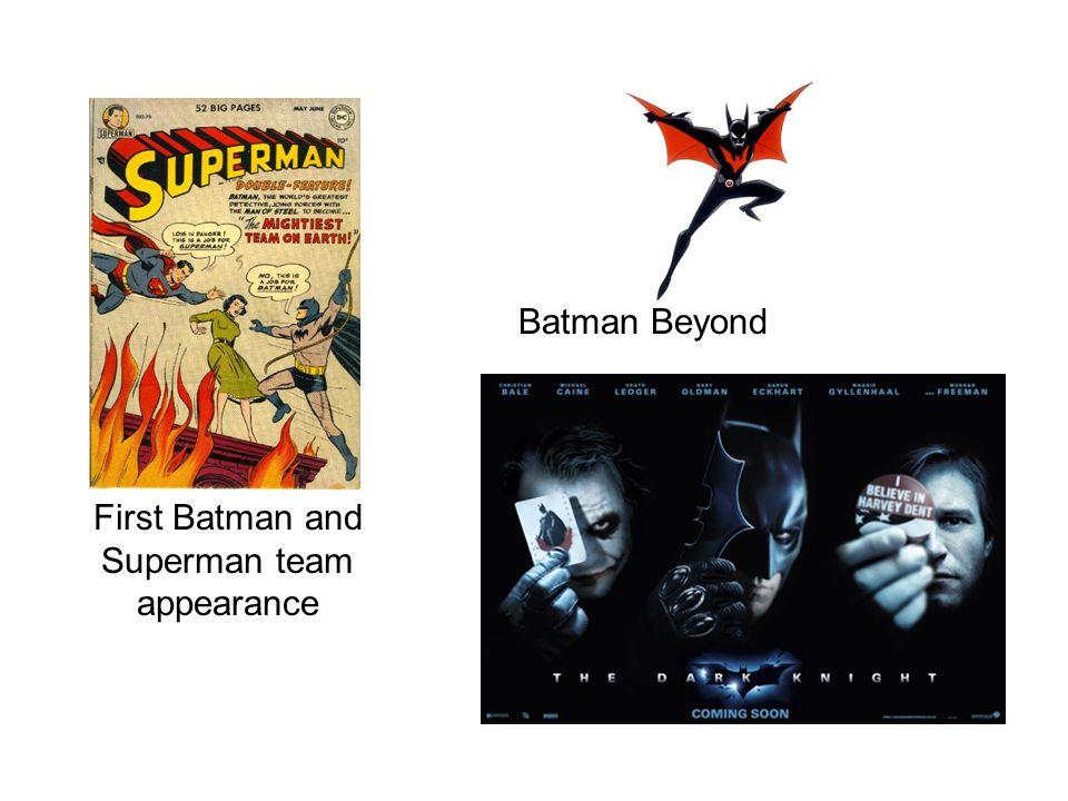 First Batman and Superman team appearance Batman Beyond
