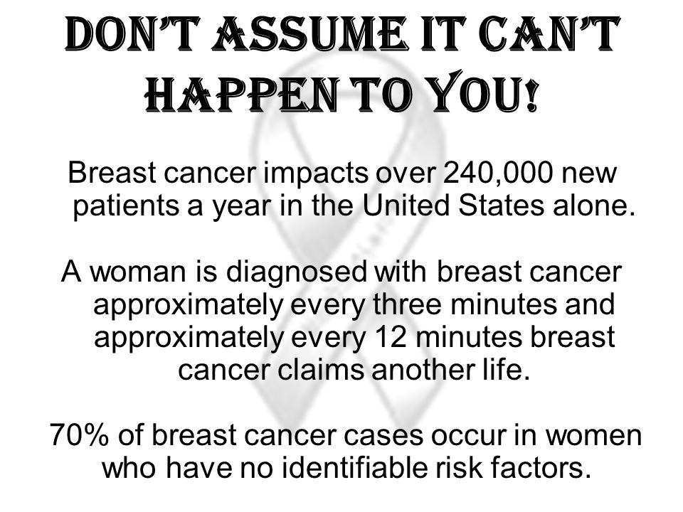 Dont assume it cant happen to You.