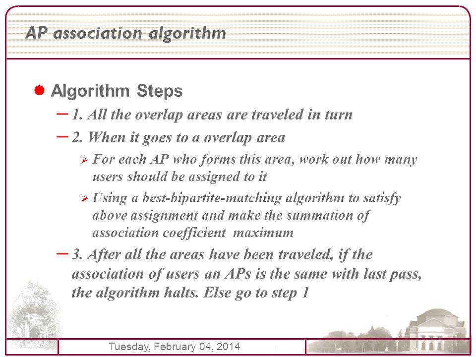 Tuesday, February 04, 2014 AP association algorithm Algorithm Steps – 1.