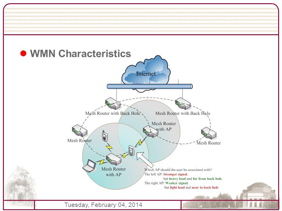 Tuesday, February 04, 2014 WMN Characteristics