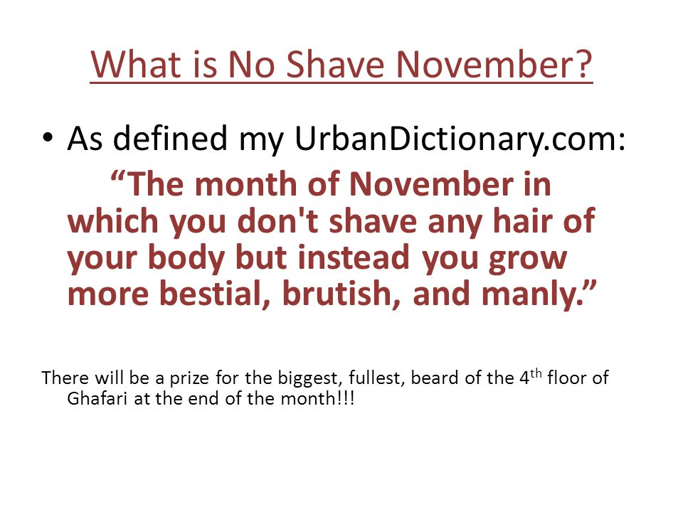 What is No Shave November.