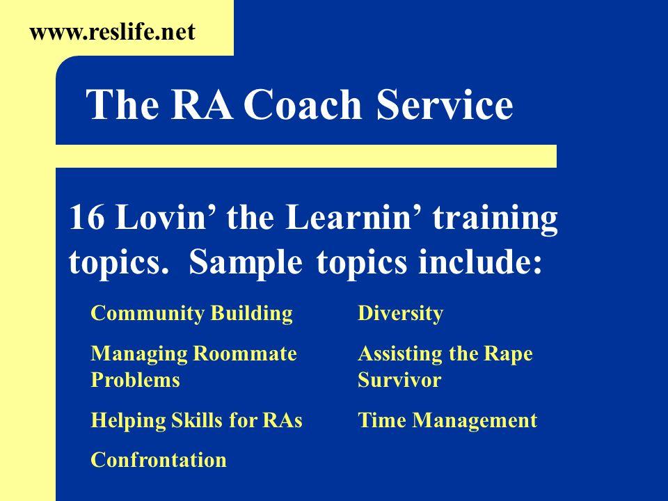 16 Lovin the Learnin training topics.