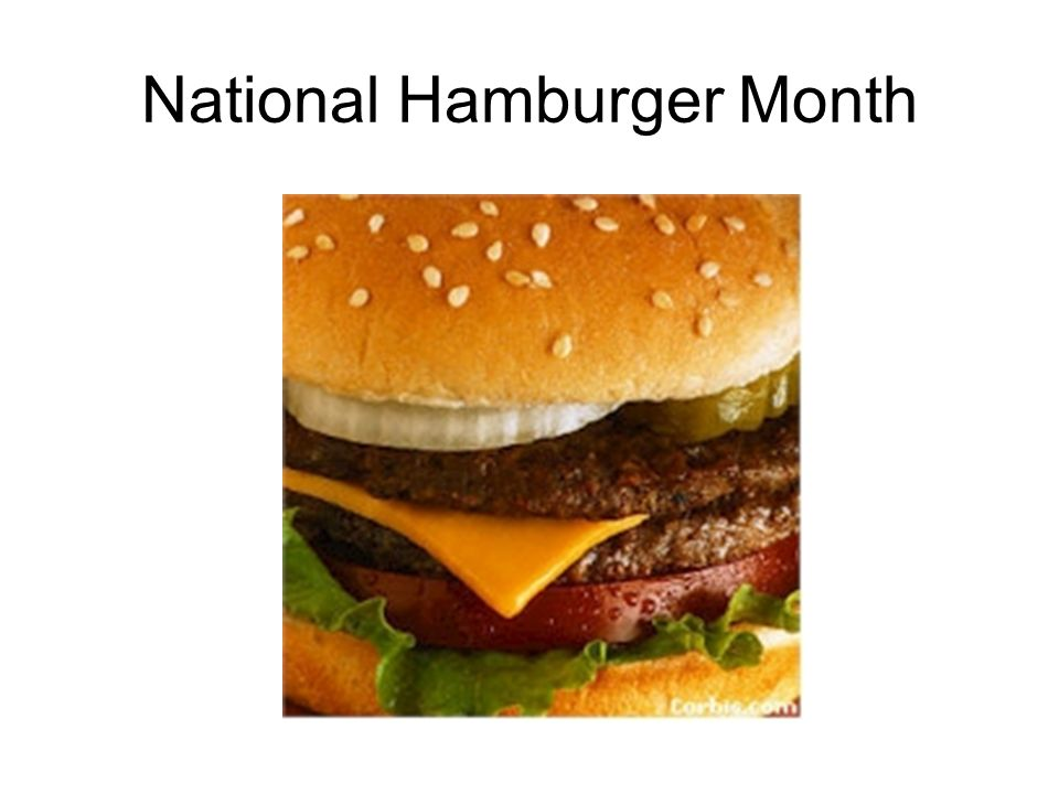National Hamburger Month