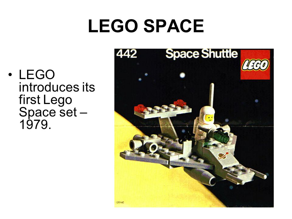 LEGO SPACE LEGO introduces its first Lego Space set – 1979.