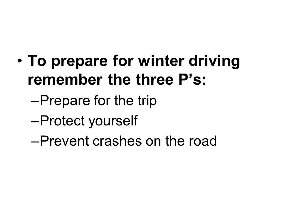 Maintain your car.