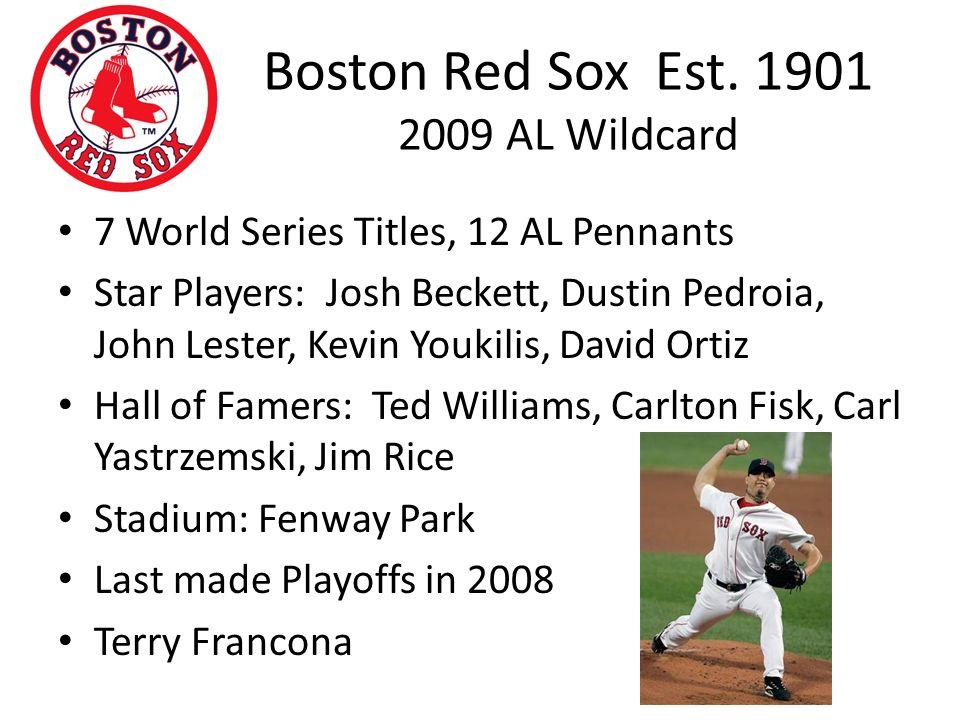 Boston Red Sox Est.