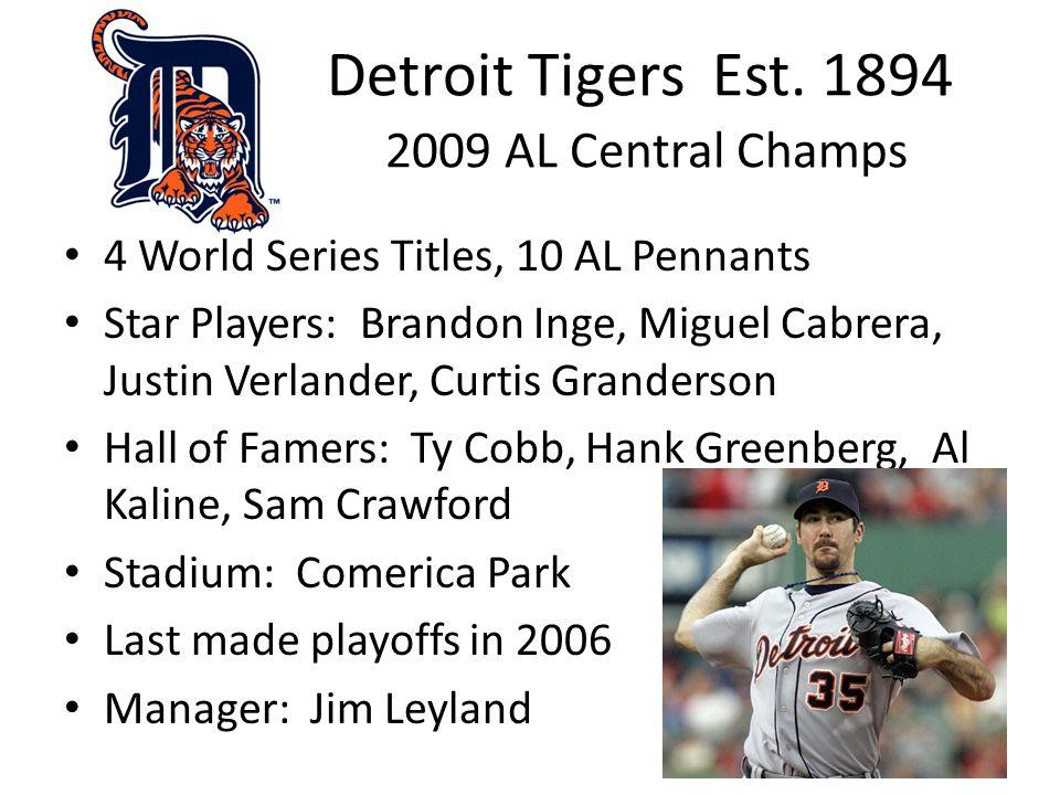 Detroit Tigers Est.