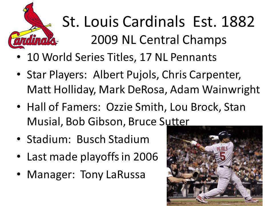 St. Louis Cardinals Est.