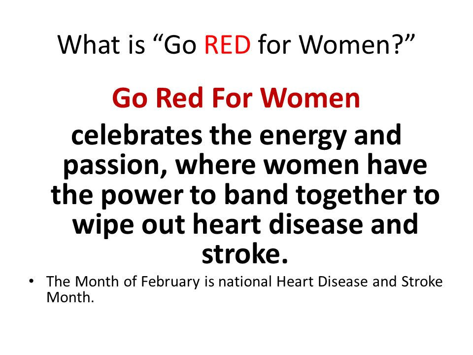 What is Go RED for Women.