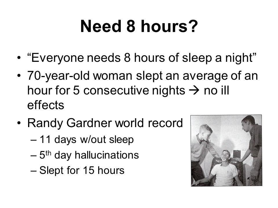 Need 8 hours.