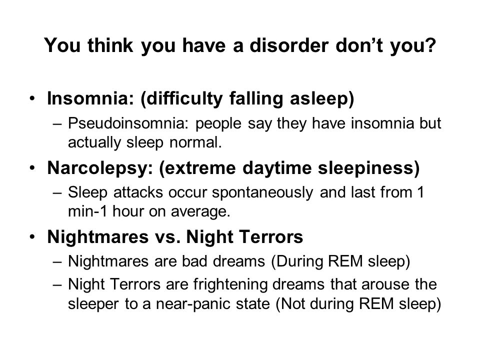 You think you have a disorder dont you.