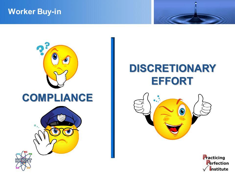 Worker Buy-in COMPLIANCE DISCRETIONARY EFFORT