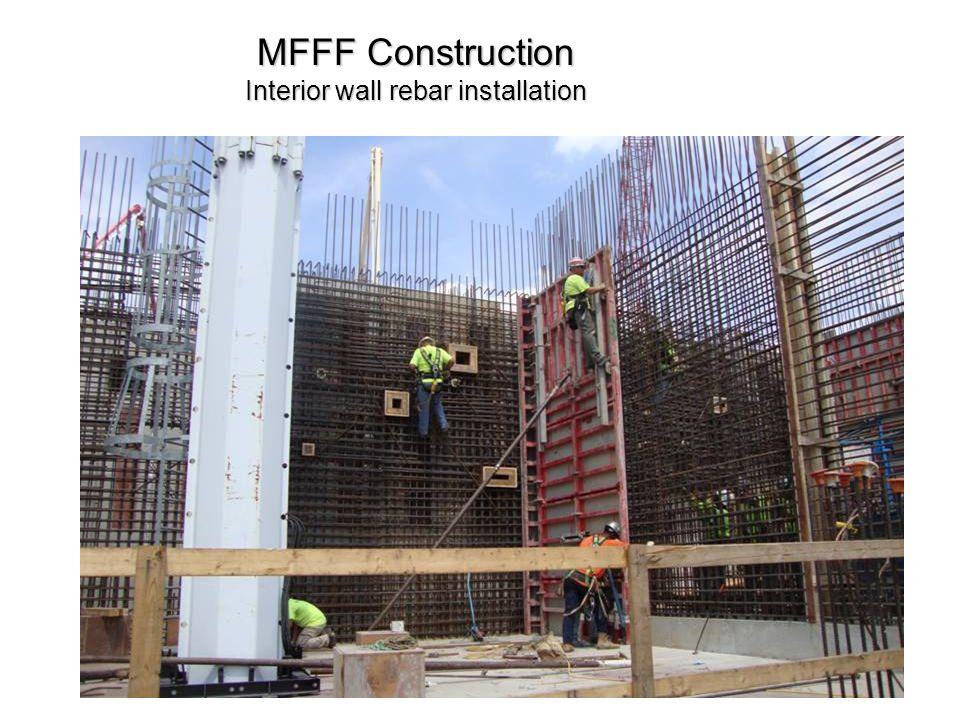 MFFF Construction Interior wall rebar installation