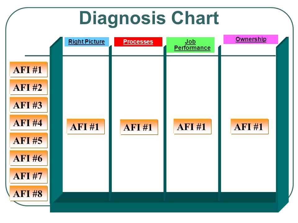 Ownership Diagnosis Chart AFI #4 AFI #5 AFI #6 AFI #7 AFI #3 AFI #2 AFI #1 AFI #8 Right PictureProcesses AFI #1 Job Performance AFI #1