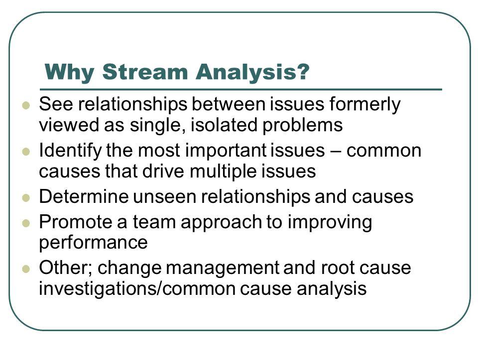 Why Stream Analysis.